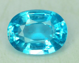 Great Luster 1.25 ct  Rarest Neon Blue Color Apatite