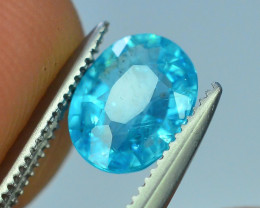 Great Luster 1.10 ct  Rarest Neon Blue Color Apatite