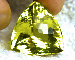 CERTIFIED - 64.83 Ct African VVS Lemon Quartz Trillion - Superb