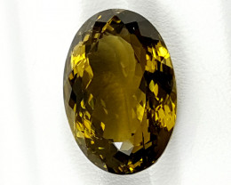 20.55Crt Olive Quartz  Best Grade Gemstones JI148