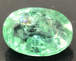1.51ct natural untreated Emerald.  Oval cut.