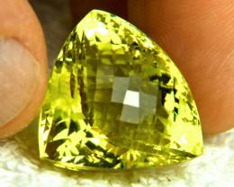 56.72 Carat African VVS Lemon Quartz Trillion - Gorgeous