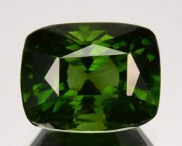 3.30 Cts Natural Sparkling Green Zircon Cushion Cut Srilanka