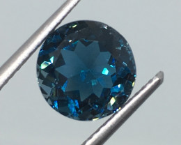 3.14 Carat VVS Topaz London Blue Brazilian Beauty - Quality !