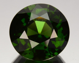 3.54 Cts Natural Sparkling Green Zircon Round Cut Srilanka