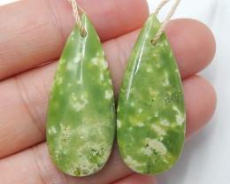 Natural 33.5ts Serpentine Jasper earrings ,earrings ,healing stone  B424