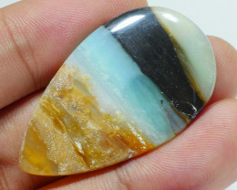 RARE INDONESIAN PETRIFIED WOOD OPAL AA GRADE 21.75 CRT -D6-