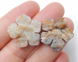 Agate Cabochon ,Flower Agate ,Raw Crystal ,Healing Stone ,Winter Stone B432