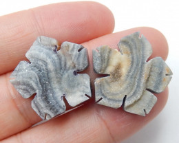 Agate Cabochon ,Flower Agate ,Raw Crystal ,Healing Stone ,Winter Stone B433