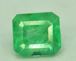 Certified 1.05 Carats ^ Emerald Cut Natural Colombian Emerald Gemstone