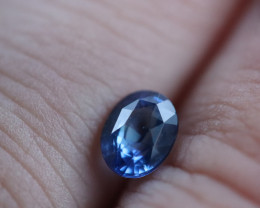 UNHEATED CERTIFIED 1.15 CTS NATURAL  STUNNING ROYAL BLUE SAPPHIRE