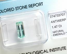 IGI Certificate Natural Emerald 1.47 ct