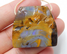 Boulder Opal Gemstone Pendant Bead Fire, Rare Australian Opal B440