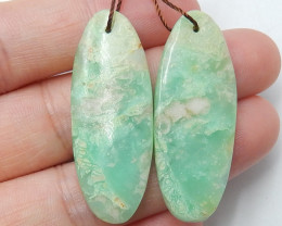 36cts Chrysoprase earrings ,oval earrings ,Designer Making B439