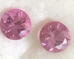 A pretty 4mm Pink Tourmaline Pair