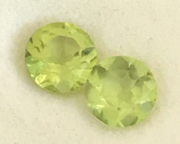 Lovely Lime Green Peridot Pair