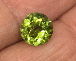 2.25 Carat Peridot Untreated Precision Cut and Polished Quality !