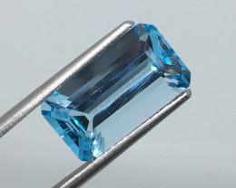 5.96 Carat VVS Topaz Swiss Blue Brazilian Beauty !