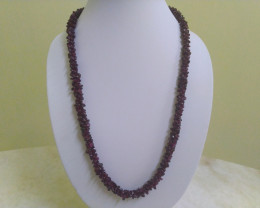 "450 ct (90 g) 26"" Natural GARNET Necklace"
