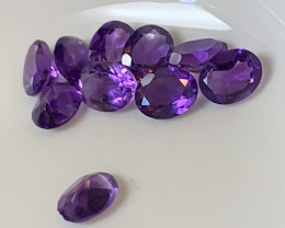 ⭐10 PIECE PARCEL OF VIOLET AMETHYST  5MM EACH no reserve
