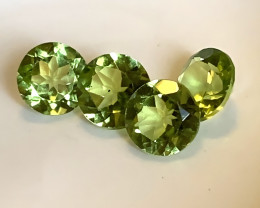 ⭐4 JEWELLERY GRADE PREMIUM PERIDOT GEMS 6.00MM EACH