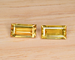 Natural Yellow Sapphire Pair 3.70 Cts