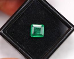 1.54Ct Vivid Green Zambian Emerald  ES0402