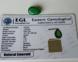 Natural Emerald 7.00ct.