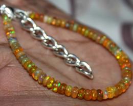 18 Crt Natural Ethiopian Welo Fire Yellow Opal Beads Bracelet 26