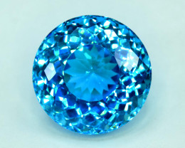 S#31-60 , 38.55 cts Stunning Electric Blue Topaz Gemstone