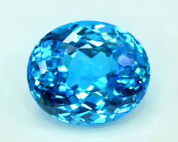 45 cts Stunning Electric Blue Topaz Gemstone