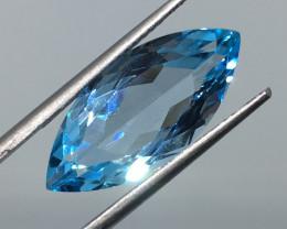 7.52 Carat VVS Topaz Swiss Blue Marquise - Exquisite Quality !
