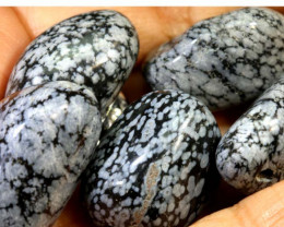 172- CTS SNOWFLAKE OBSIDIAN BEAD PARCEL NP-2581