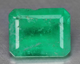 2.35 Cts NATURAL EARTH MINED GREEN COLOR COLOMBIAN EMERALD LOOSE GEMSTONE