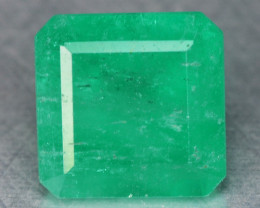 1.07  Cts NATURAL EARTH MINED GREEN COLOR COLOMBIAN EMERALD LOOSE GEMSTONE