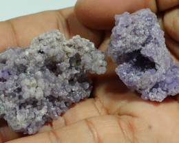 41 GRAM 2 PCS NATURAL INDONESIAN GRAPE CHALCEDONY SPECIMEN -E32-