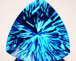 8.46Ct Fine Quality Swiss Blue Natural Topaz Concave Trillion