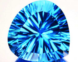 8.45Ct Dazzling Swiss Blue Natural Topaz Concave Heart