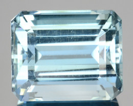 ~GORGEOUS~ 6.48 Cts Natural Blue Aquamarine Octagon Cut Brazil