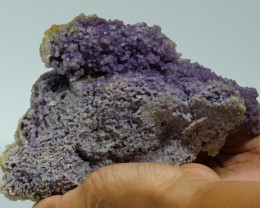 1148 GRAM NATURAL INDONESIAN GRAPE CHALCEDONY SPECIMEN -E73-