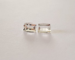White topaz fancy pair 3.6 carats #G0064