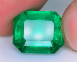 GRS Certified AAA Grade & Clarity 9.93 ct Vivid Green Emerald~Colombia