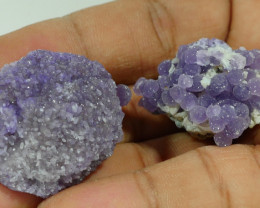 40 GRAM 2PCS NATURAL INDONESIAN GRAPE CHALCEDONY SPECIMEN -E79-