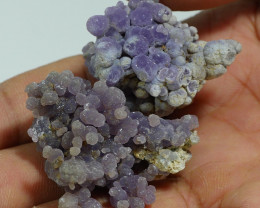 135.00 CRT 2 PCS NATURAL INDONESIAN GRAPE CHALCEDONY SPECIMEN -E88-