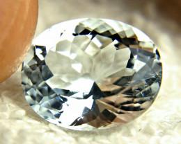 7.25 Carat Silver Blue Himalayan VS Aquamarine - Gorgeous