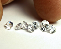 3.0 Tcw. White Southeast Asian VVS/VS Zircons - 3mm - 8pcs.