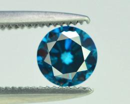 0.45 ct Natural blue Diamond Round Brilliant Cut