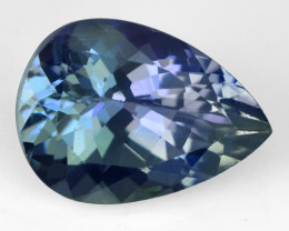 1.26 CTS FANCY BLUISH VIOLET COLOR NATURAL TANZANITE (ZOISITE) GEMSTONE