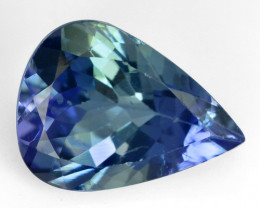 1.00 CTS VIOLETISH GREEN COLOR NATURAL TANZANITE LOOSE GEMSTONE