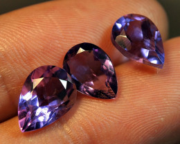 6.35CRT AMAZING PURPLE BLUE AMATHYS PEAR